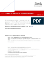 Curso de Derecho de Las Telecomunicaciones