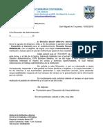 Esc- 2018 - Nota Modelo de Pedido - Linea Telefonica