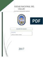 Informe de Haluros de Alquilo
