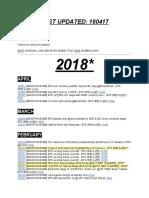 2016-2018 Bomb Masterlist