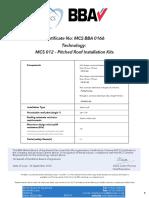 Certificado MCS Racks Serie 42