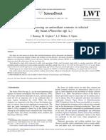 efeitos do processamento em feijões antioxidantes