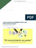 ¿Qué es Business Intelligence (BI) y qué herramientas existen_
