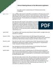 Recent Chronology on Chronic Wasting Disease at The Minnesota Legislature