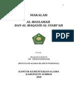 Maslahah Al-mursalah Dan Maqashid Al-syariah