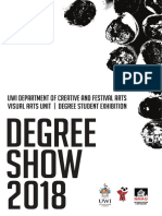 UWI Degree Show 2018 Official Catalogue