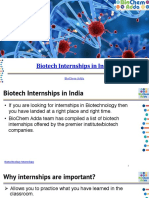 Biotech Internships in India