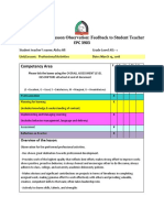 professional activities feedback - 3