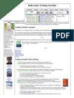 Bulkowski's Trading Checklist
