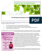 Pre Menopause Symptoms and Soy