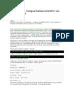 Cómo Instalar y Configuar Samba en Centos 7 Con Acceso Anónimo