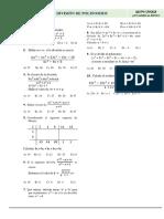 Examen de Division de Polinomios y Teorema de Restos