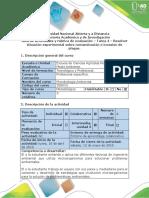 Guía de Actividades y Rúbrica de Evaluación - Tarea 4 - Resolver Situación Experimental Sobre Contaminación o Invasión de Plagas