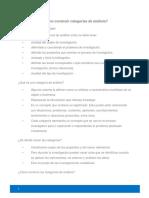 ¿Cómo construir categorías de análisis