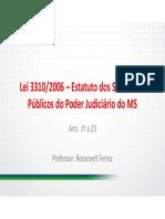 Lei 3310 2006 Introducao Ao Estatuto Cargo Publico Servidor Publico