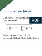 1- La Transformada de Laplace (1)