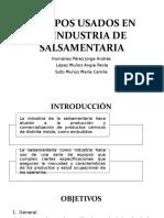 Equipos Usados en La Industria de Salsamentaria