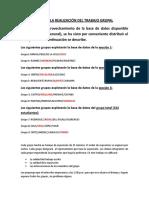 Directivas Para La Realización Del Trabajo Grupal y La Exposición