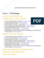 VLSI Design - Lecture Notes, Study Materials and Important questions answers