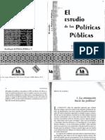 Luis F. Aguilar Villanueva El Estudio de Las Politicas Publicas.