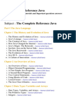 The Complete Reference Java - Lecture Notes, Study Materials and Important questions answers