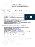 Repair and Rehabilitation of Structures - Lecture Notes, Study Materials and Important questions answers