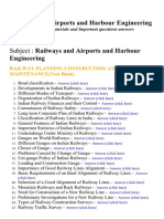 Railways and Airports and Harbour Engineering - Lecture Notes, Study Materials and Important questions answers