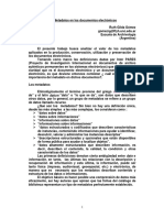 Los Metadatos en los documentos electrónicos
