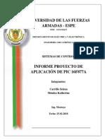 Informe Control Proporcional