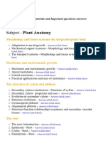 Plant Anatomy - Lecture Notes, Study Materials and Important questions answers