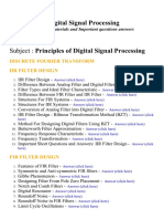 Principles of Digital Signal Processing - Lecture Notes, Study Materials and Important questions answers
