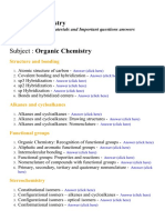 Organic Chemistry - Lecture Notes, Study Materials and Important questions answers