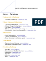 Pathology - Lecture Notes, Study Materials and Important questions answers