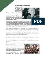 Dictaduras Militares en Perú