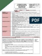 Secuencia de Español 5º Planes de Evaluacion Macros Periodo 1