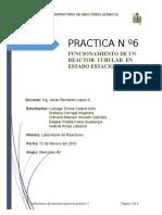 Informe-6-Funcionamiento de Un Reactor Tubular en Estado Estacionario
