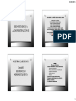 Unidad 1 - El Proceso Administrativo.
