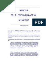 Araña-Hipnosis Legislacion Actual España
