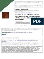 Graubart 2011 So Color de Cofradía Slavery and Abolition