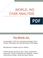 Analisis del caso toy world