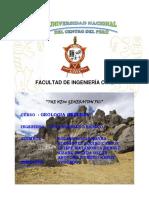 Facultad de Ingeniería Civil Informe de campo Geologia