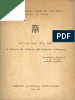 1968 - John Fisher - Arequipa 1796-1811. La relación del Gobierno del Intendente Salamanca.pdf