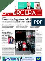 Encuesta Trinacional La Tercera de Chile