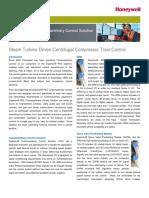Steam Turbine Driven Compressor Controls