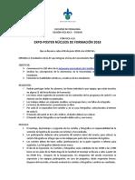 Convocatoria EXPO-POSTER NucleosFormacion2018 Definitiva