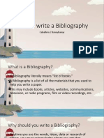 How to Write a Bibliography Sam