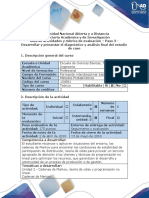 Guía de Actividades y Rúbrica de Evaluación - Paso 3 - Desarrollar y Presentar El Diagnóstico y Análisis Final Del Estudio de Caso