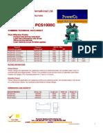 Cummins Data Sheet Pcs810-1000c