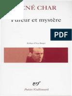 Char, René - Fureur Et Mystère (1971, Gallimard, 9782070300655)