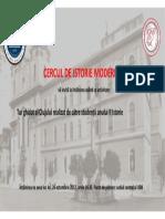 Afis Cu Tur Istoric Al Orasului Cluj 2017